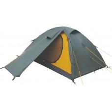 Двухместная палатка Terra Incognita Platou 2+1 Alu тёмно-зелёный