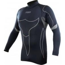 Термо-футболка Terra Incognita Borea L-XL серый / чёрный