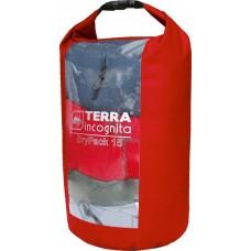 Гермомешок с окном Terra Incognita DryPack 15L красный
